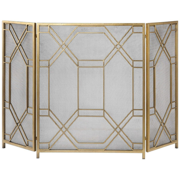 Uttermost Rosen Gold Fireplace Screen
