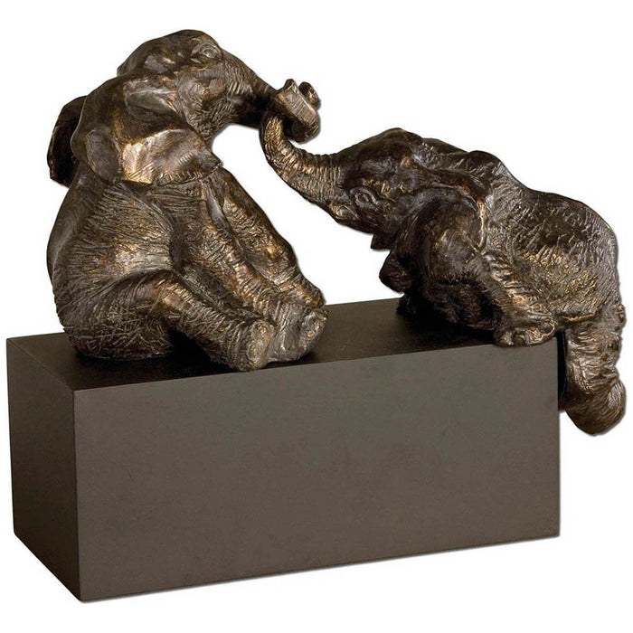 Uttermost Playful Pachyderms Bronze Figurines 19473
