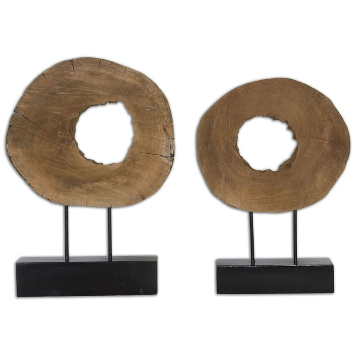 Uttermost Ashlea Wooden Sculptures Set of 2 19822
