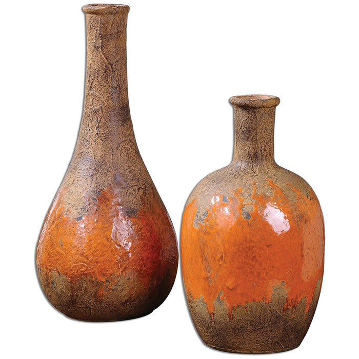 Uttermost Kadam Ceramic Vases Set of 2 19825
