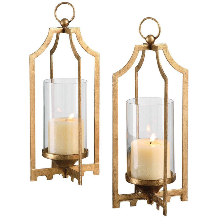 Uttermost Set of 2 Lucy Gold Candleholders