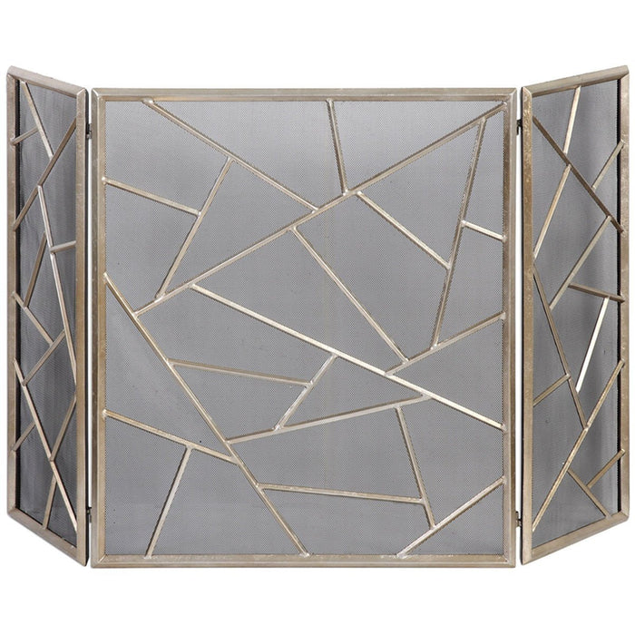 Uttermost Armino Silver Leaf Fireplace Screen