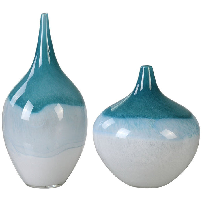 Uttermost Carla Teal Green Vase Set of 2