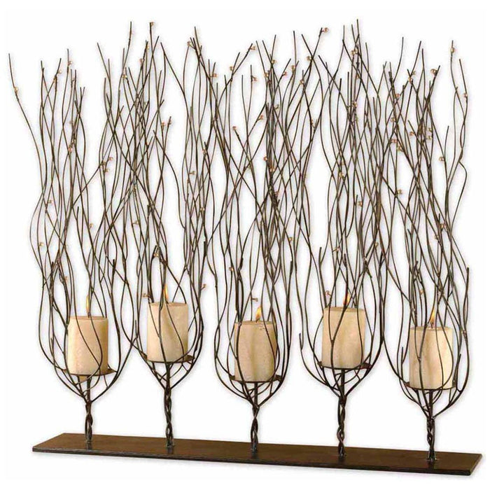 Uttermost Fedora Dark Brown Candleholder 20605
