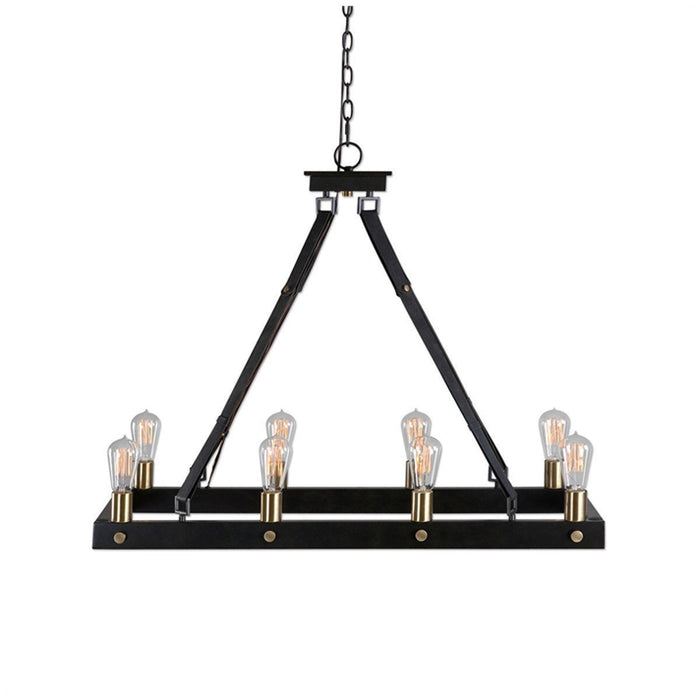 Uttermost Marlow Dark Antique Bronze Rectangle Chandelier
