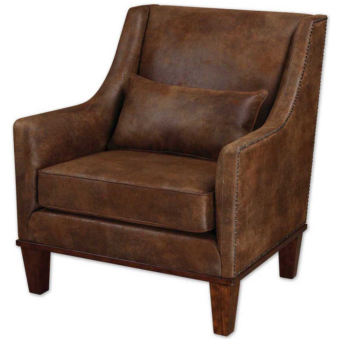 Uttermost Clay Leather Armchair 23030