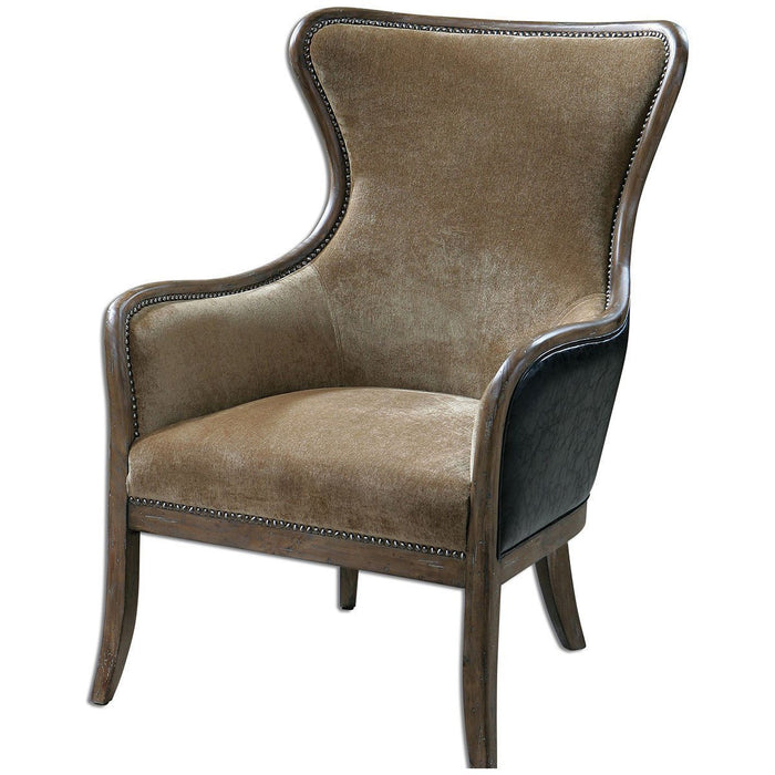 Uttermost Snowden Tan Wing Chair 23158
