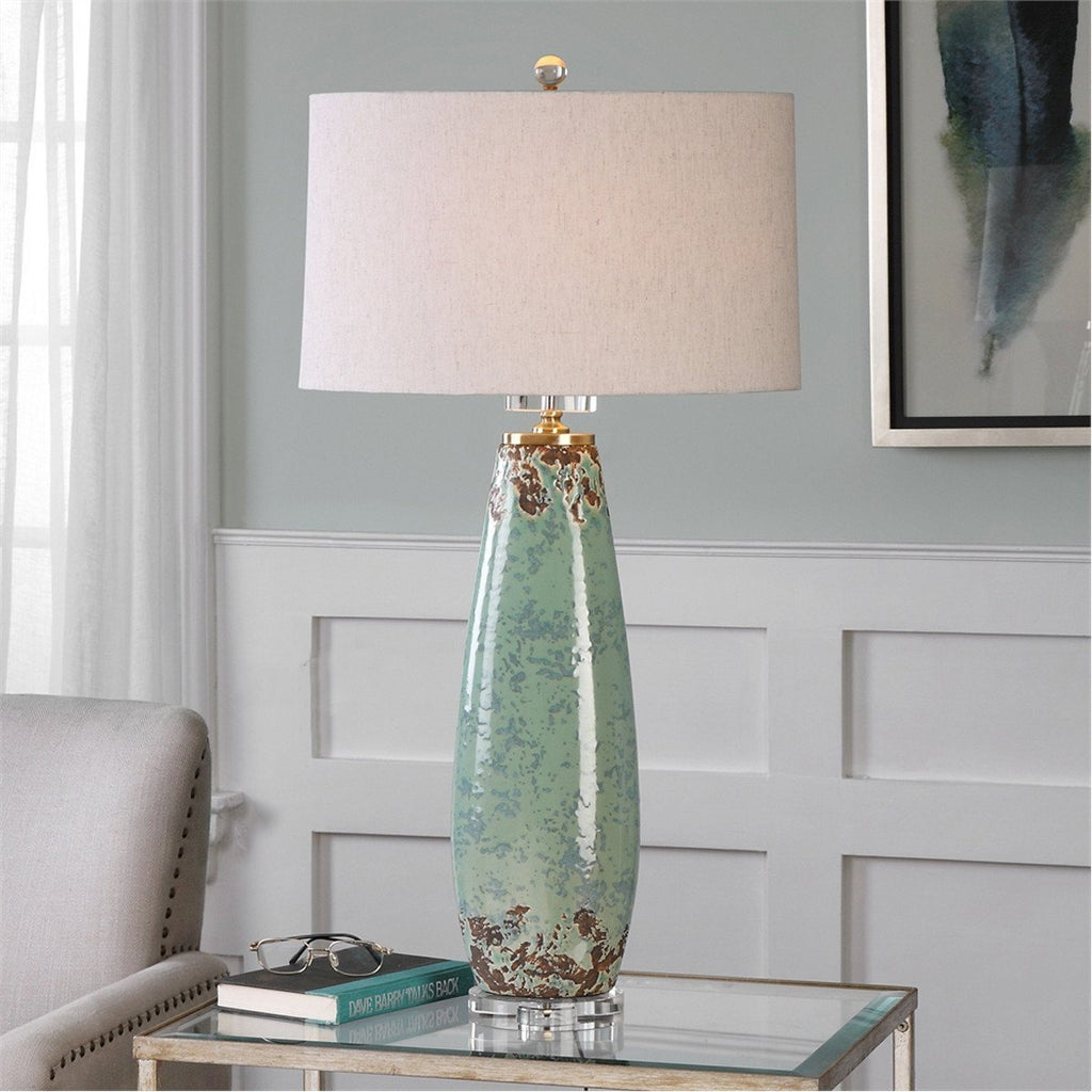 Uttermost Rovasenda Pale Mint Green Table Lamp
