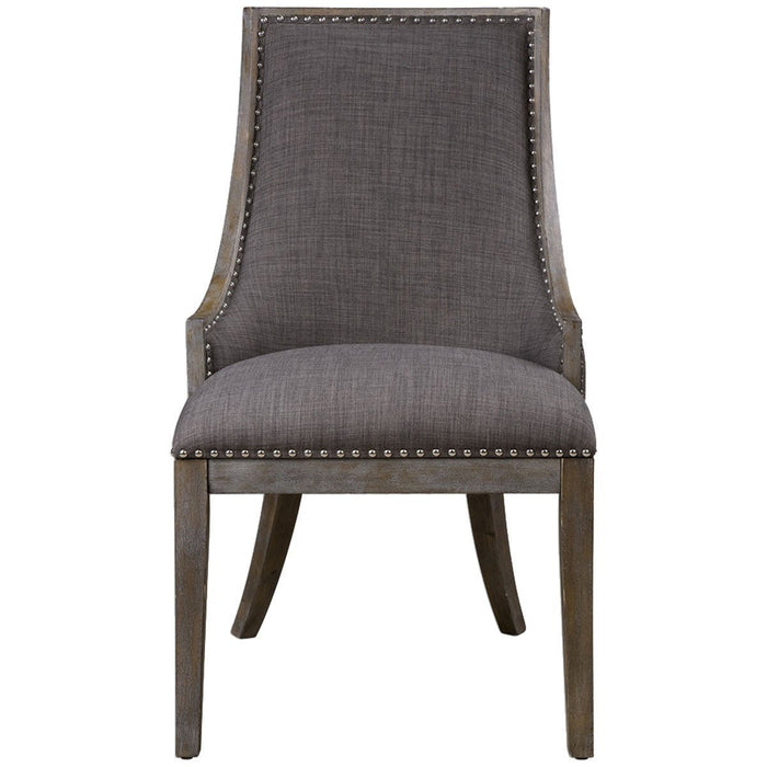 Uttermost Aidrian Charcoal Gray Accent Chair