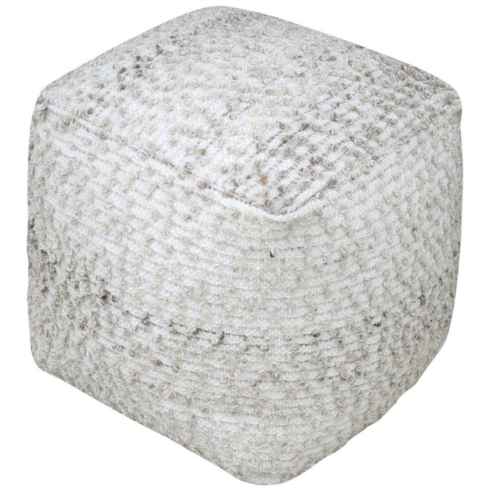 Uttermost Valda Wool Pouf Cotton Ottoman
