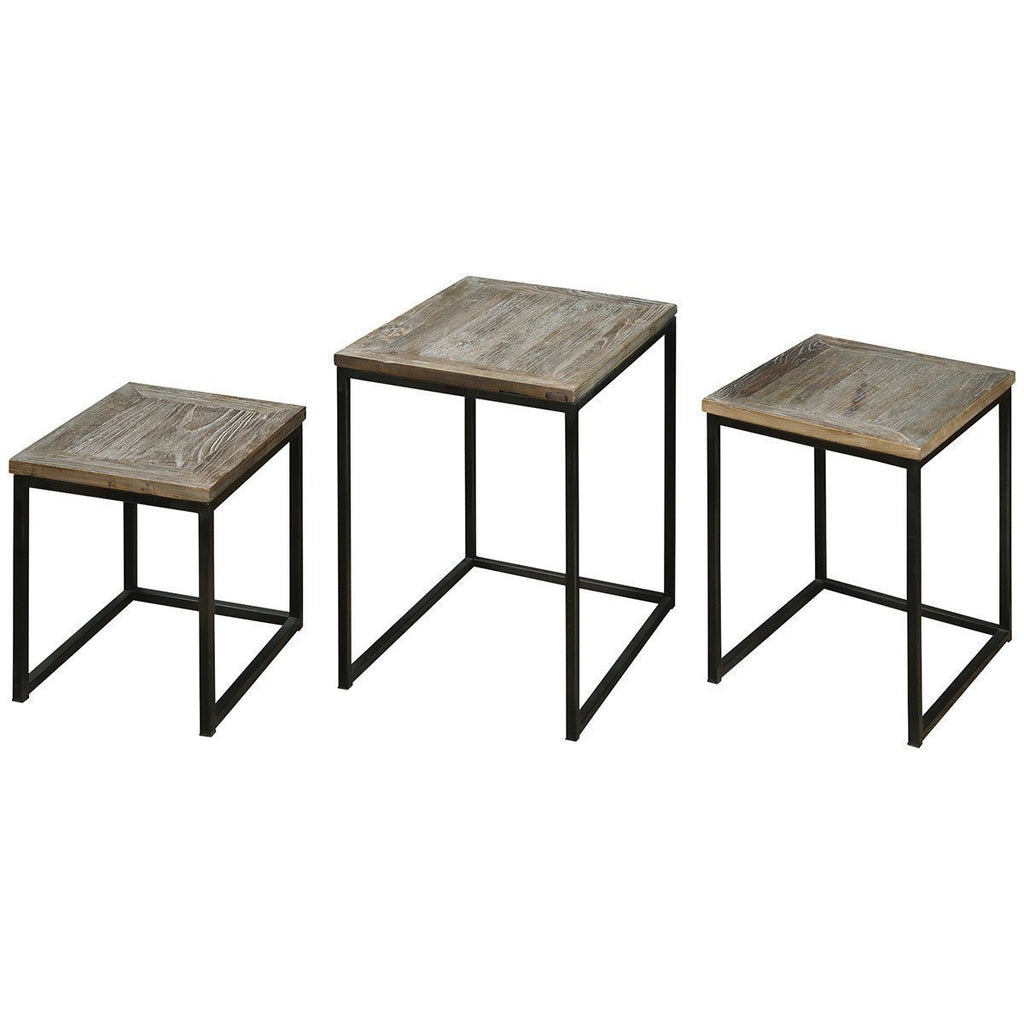 Uttermost Set of 3 Bomani Wood Nesting Tables