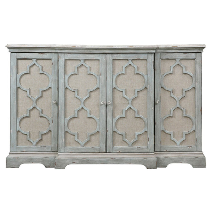 Uttermost Sophie Weathered Grey 4 Door Cabinet