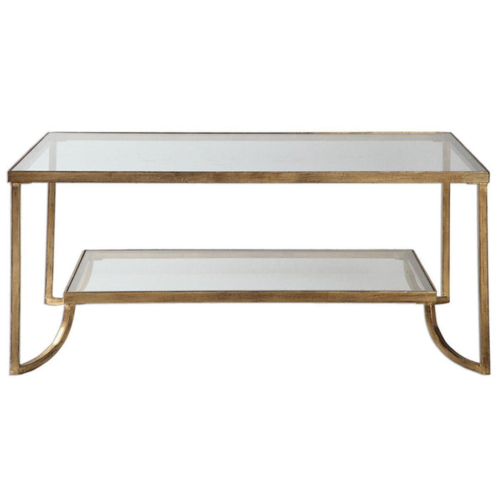 Uttermost Katina Antiqued Gold Leaf Coffee Table