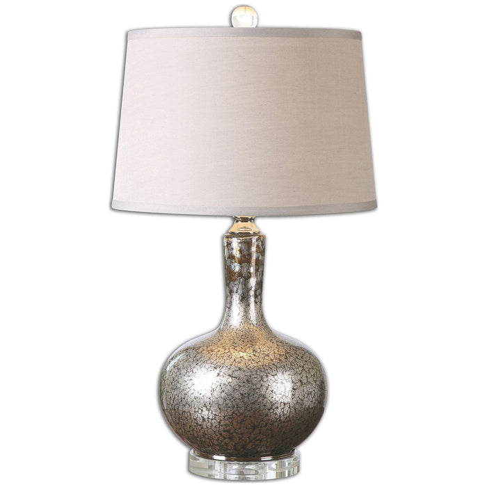 Uttermost Aemilius Gray Glass Table Lamp 26157