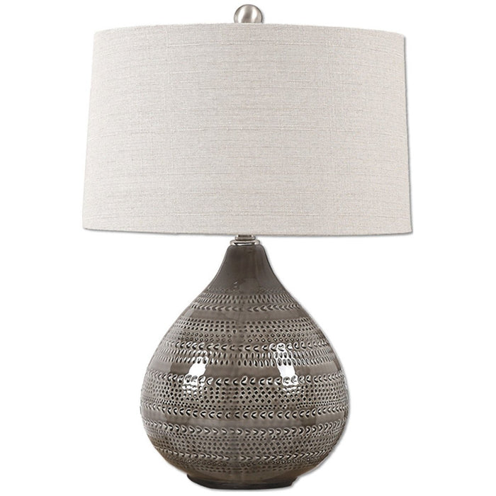 Uttermost Batova Gray Glaze Table Lamp