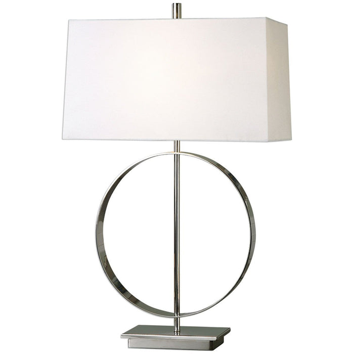 Uttermost Addison Plated Polished Nickel Table Lamp