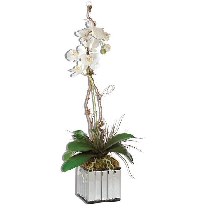 Uttermost Kaleama Orchids White Box Planter