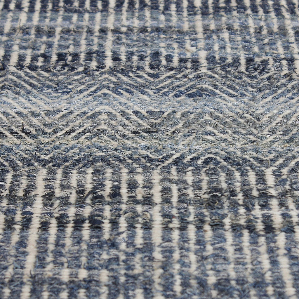 Uttermost Bolivia Blue Wool and Rescued Denim Rug