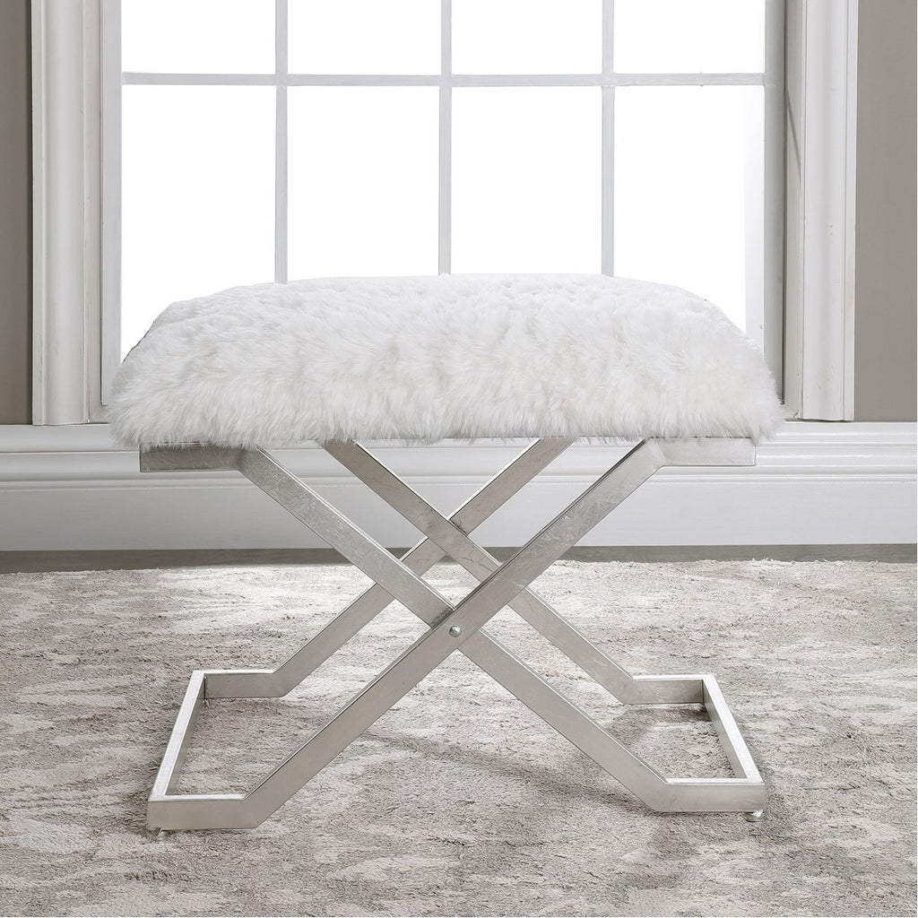 Uttermost Farran Silver Small Bench