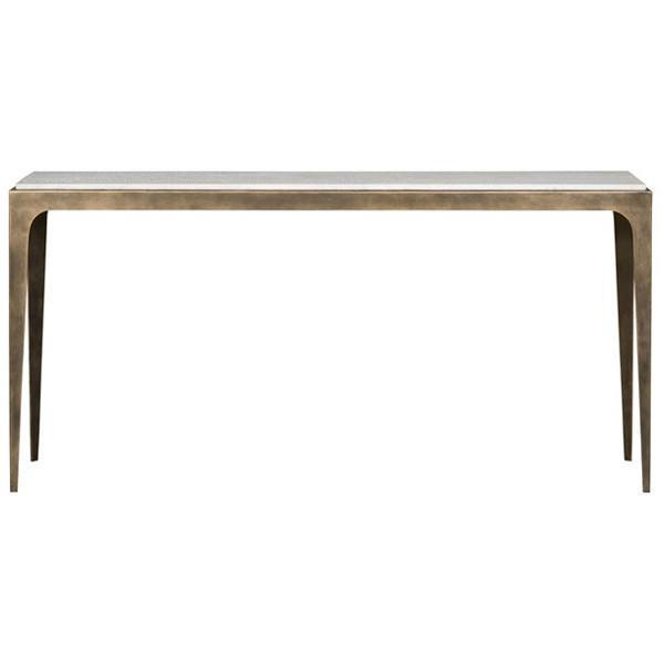 Vanguard Furniture French Brass Metal Base Hancock Console Table