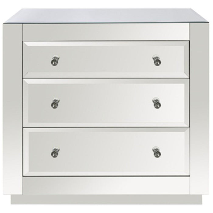 Worlds Away 3-Drawer Glass Chest ALICIA ICE