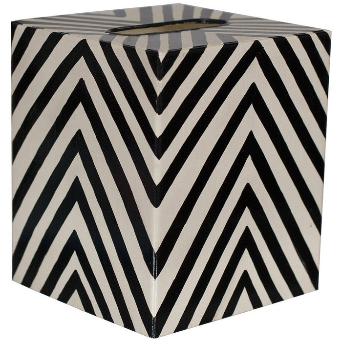 Worlds Away Kleenex Zebra Box