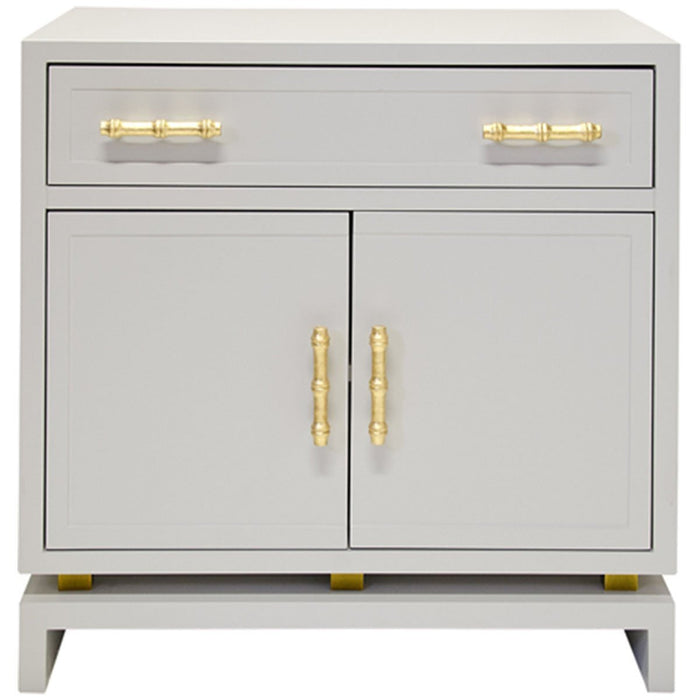 Worlds Away Matte 1-Drawer Nightstand MARCUS GRY