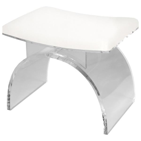 Worlds Away Lucite Arched Stool Base