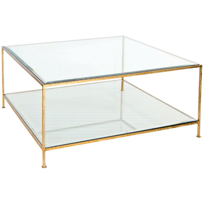Worlds Away Hammered Square Coffee Table QUADRO G