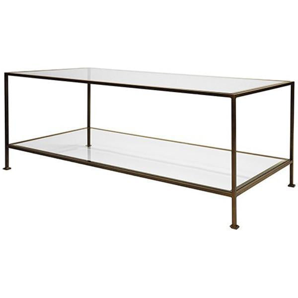 Worlds Away Hammered Rectangular Coffee Table