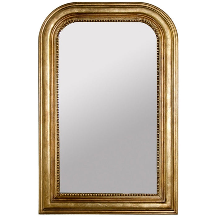 Worlds Away Handcarved Curved Top Rectangular Mirror WAVERLY G