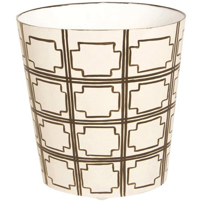 "Worlds Away 11"" Wide High Oval Wastebasket"