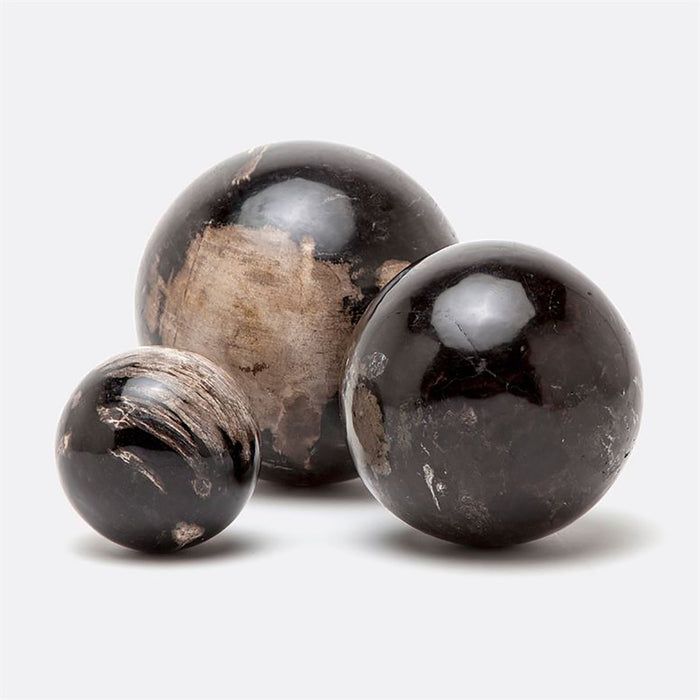 Made Goods Bram Petrified Wood Balls, 3-Piece Set