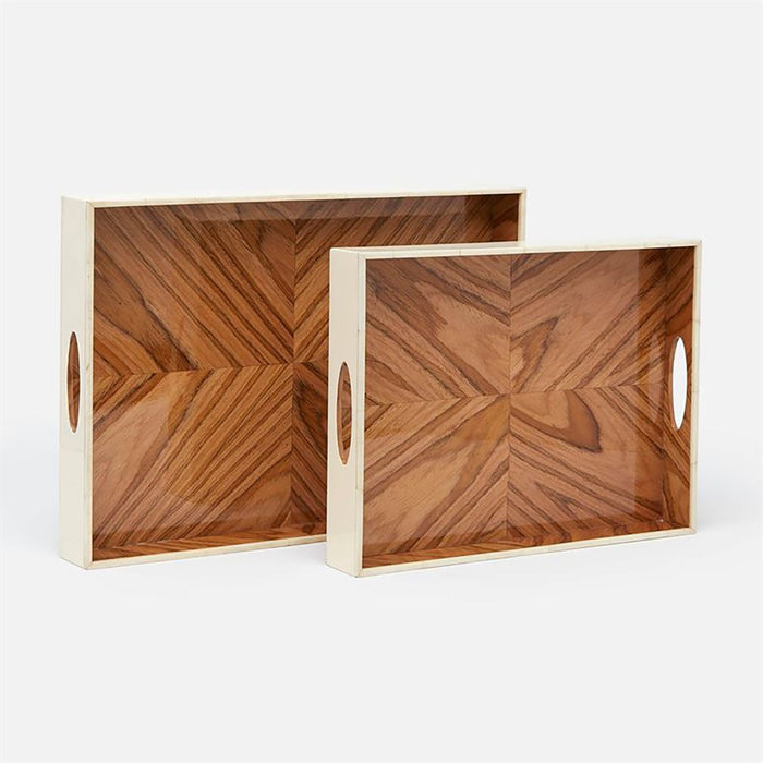Made Goods Dixon Formal Wood Tray, 2-Piece Set