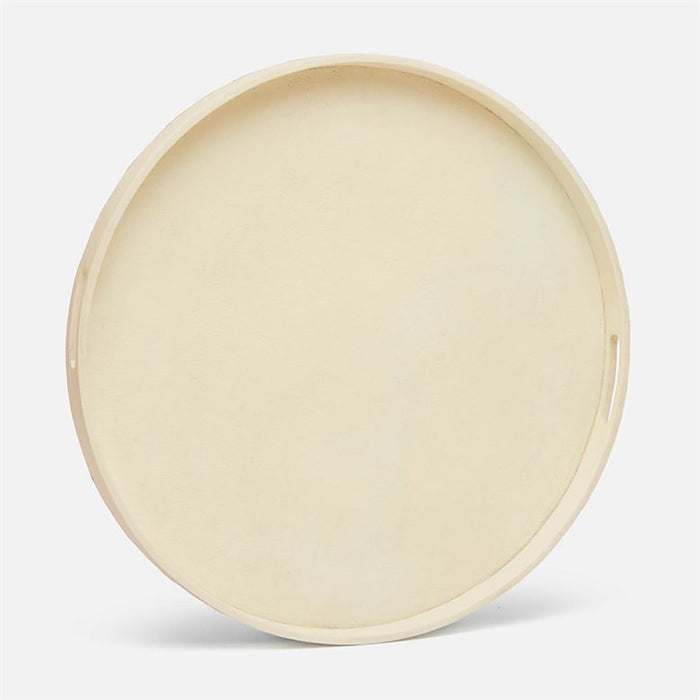 Made Goods Elodie XL Round Faux Raffia Tray
