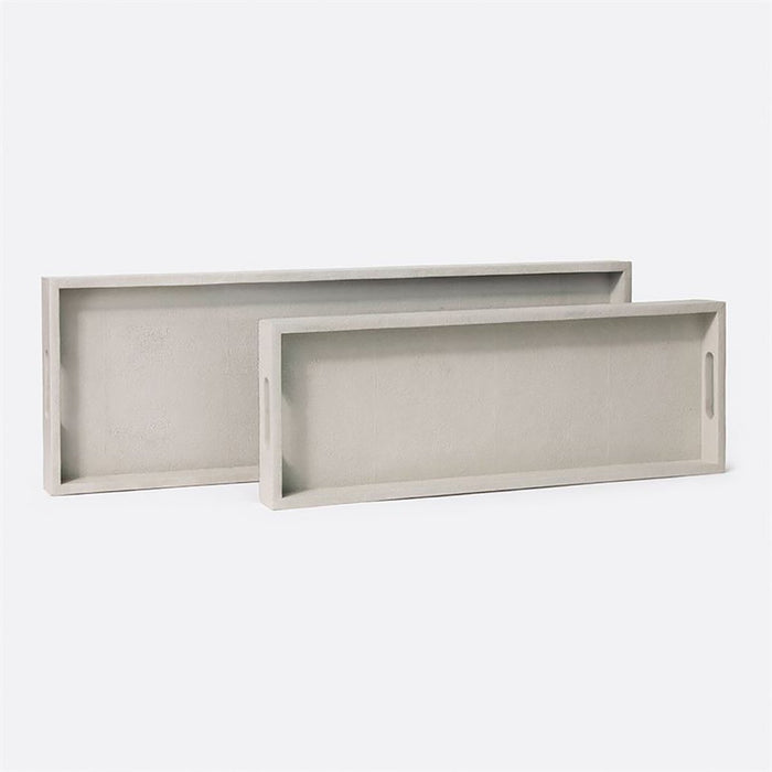 Made Goods Emery Vintage Faux Shagreen Console Tray, 2-Piece Set