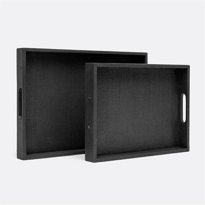 Made Goods Sutton Faux Raffia Tray, 2-Piece Set