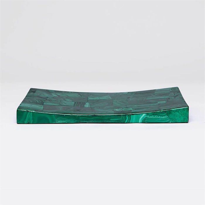 Made Goods Weston Semi-Precious Stone Tray in Malachite