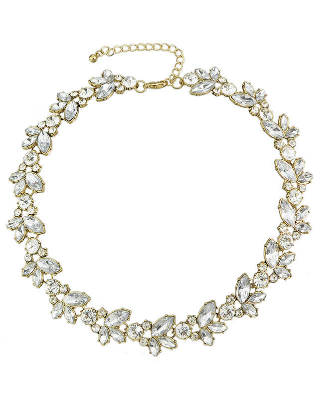 White Gemstone Gold Chain Necklace - The Style Syndrome  - 1