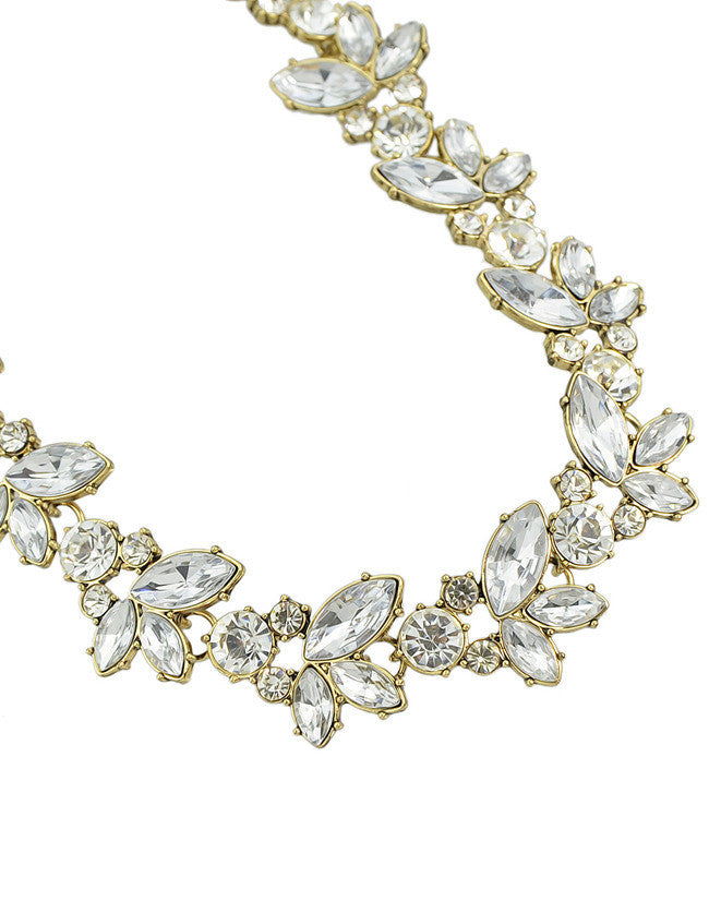 White Gemstone Gold Chain Necklace - The Style Syndrome  - 2
