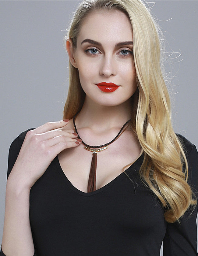 Gold Punk Rock Collar Necklace - The Style Syndrome  - 1