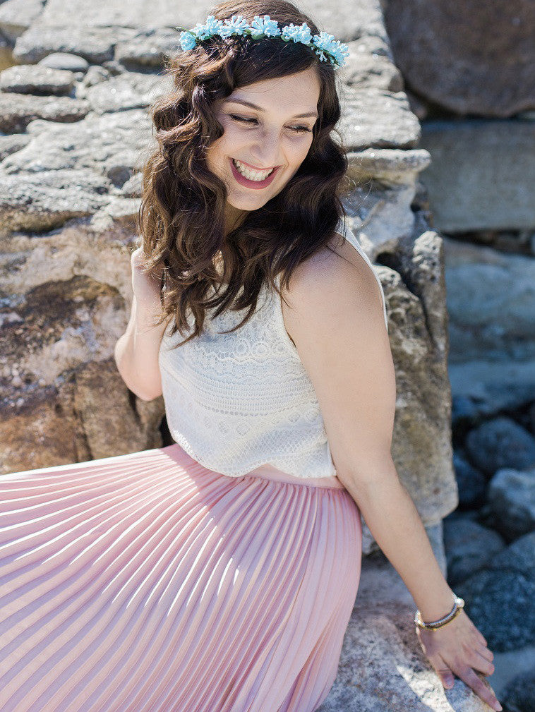 Pink Pleated Maxi Skirt - The Style Syndrome  - 4