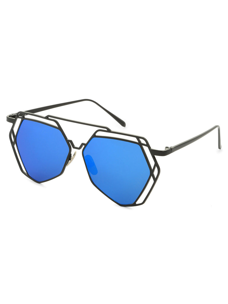 Metal Frame Hollow Sunglasses - The Style Syndrome  - 1