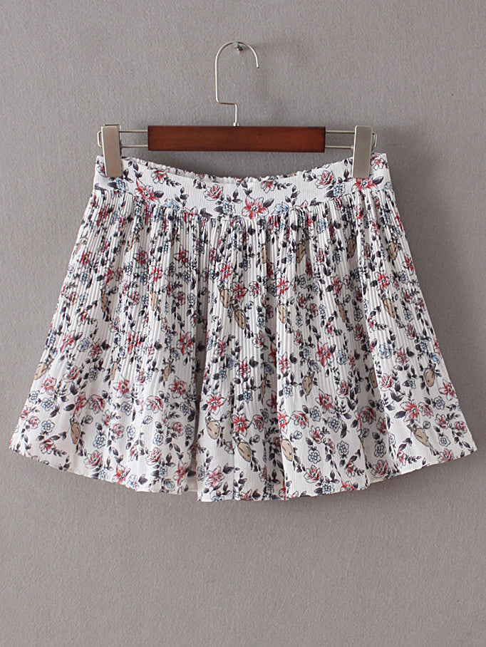 Floral Elastic Waist Ruffle Shorts - The Style Syndrome  - 3