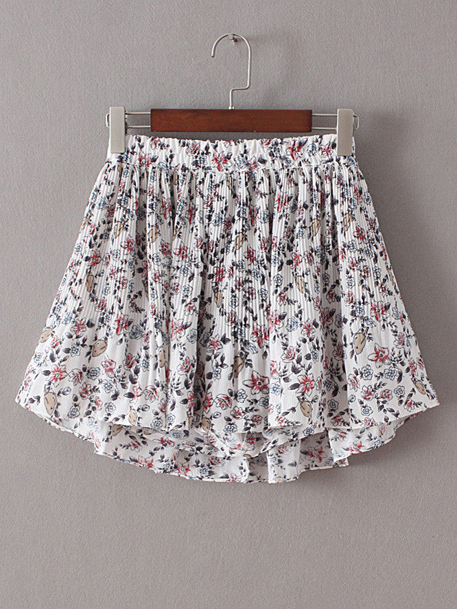Floral Elastic Waist Ruffle Shorts - The Style Syndrome  - 5