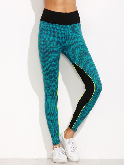 RZX Color Block High Waist Leggings