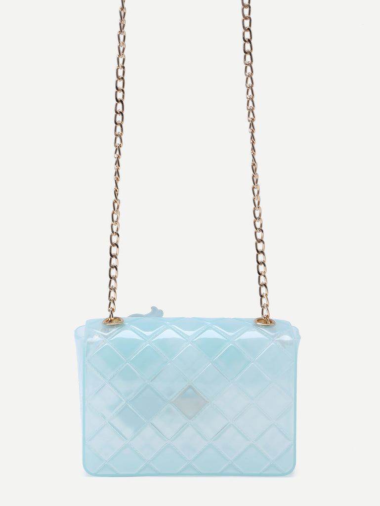 Blue Eyes Lip Patch Clear Crossbody Bag - The Style Syndrome  - 4