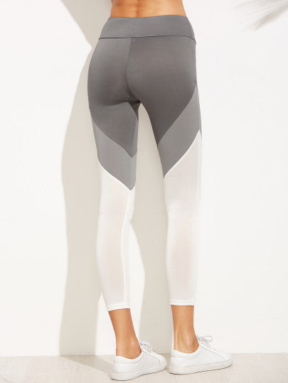 RZX Color Block Wide Waistband Leggings