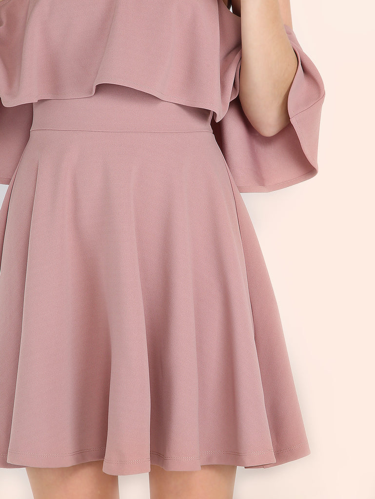 Pink Off The Shoulder Skater Dress - The Style Syndrome  - 4