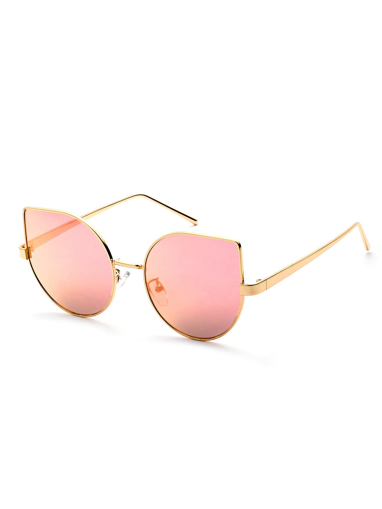 Metal Frame  Cat Eye Sunglasses RZX